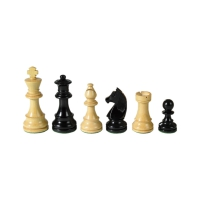 Chesmen Set- Staunton - black - King height 95 mm - weighted
