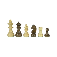 Chessmen - Staunton - brown - king height 83 mm