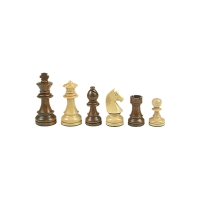 Chesmen Set- Staunton - brown - king height 70 mm - weighted
