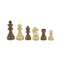 Chesmen Set- Staunton - brown - king height 89 mm - weighted