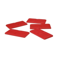 gaming piece - playing pieces - rectangular - red