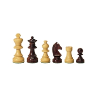 Chessmen - Rosewood and Buxus - king height 83 mm