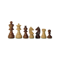 chess figures - teak and buxus - king height 76 mm