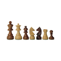 chess figures - teak and buxus - king height 83 mm