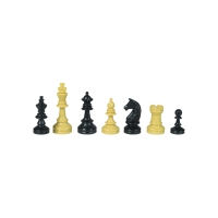 School chess pieces - plastic - king height 55 mm