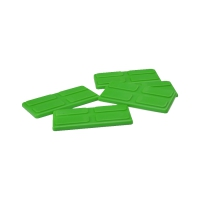 gaming piece - playing pieces - rectangular - green