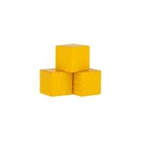 Holzwürfel - Spielsteine - kantig - gelb - Holz - 15 mm