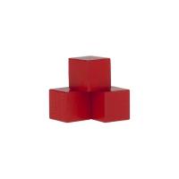 Holzwürfel - Spielsteine - kantig - rot - Holz - 15 mm