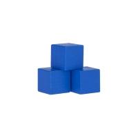 Holzwürfel - Spielsteine - kantig - blau - Holz - 15 mm