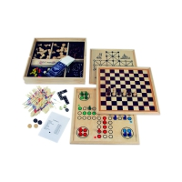 Wooden Games Collection - includes 10 games