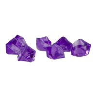 Gemstones - game piece - purple - plastic - ca. 13 mm
