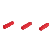 Sticks - game pieces - streets - wood - red - 25 mm