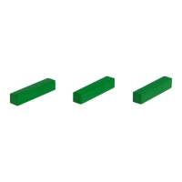Sticks - game pieces - streets - wood - green - 25 mm