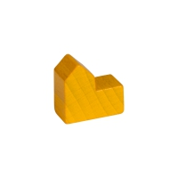Church - house - city - game pieces - wood - yellow - 20x19x10mm