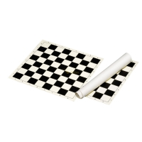 PVC Roll-up board - field 50 mm - PVC - black and cream