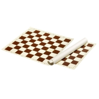 PVC Roll-up board - field 55 mm - PVC - brown and cream