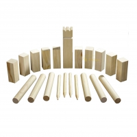 Kubb game - pine - king 300 x 70 x 70 mm - in cotton bag