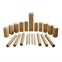 Kubb game - beech - king 300 x 70 x 70 mm - in cotton bag