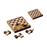 Wims Mat - hevea- and samena-wood - 9 puzzle pieces