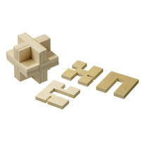 Cross-Puzzle - plywood - 9 puzzle pieces